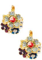 Kenneth Jay Lane Women's Bug On Flower Statement Earrings