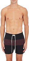 Saturdays Surf NYC Men's Grant Striped Swim Trunks-BLACK