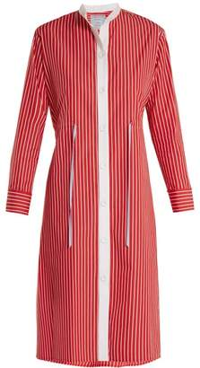 Dovima Paris - Frankie Striped Cotton Poplin Shirtdress - Womens - Red Multi