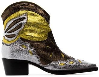 Ganni Meg 45 leather cowboy boots