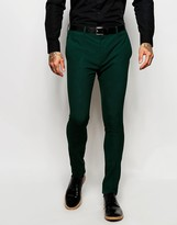 Asos Super Skinny Suit Pants In Green
