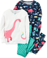 Carter's 4-Pc. Dinosaurs Pajama Set, Baby Girls (0-24 months)