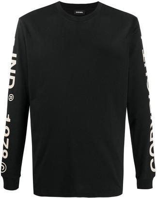 Diesel back logo print T-shirt