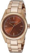 Cabochon Women's 520 De Ce Monde Analog Display Swiss Quartz Rose Gold Watch