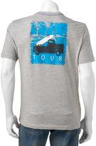 "Caribbean Joe Men's Back-Print ""West Beach Tour"" Tee"