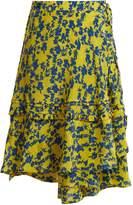 Preen Line Luna floral-print chiffon wrap skirt