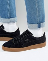 Puma Basket Classic Winterized Trainers In Black 36132402