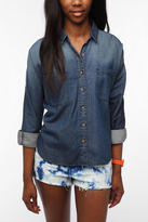 Breezy Chambray Button-Down Shirt - Vintage Denim
