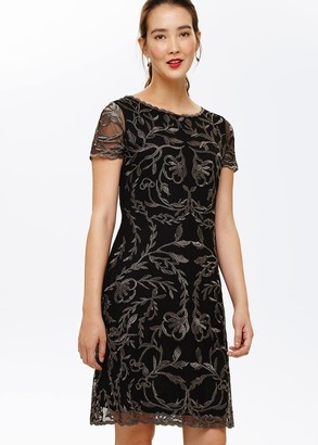 Phase Eight Alannah Embroidered Mesh Dress