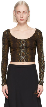 Versace Brown Python Print T-Shirt