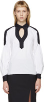 Peter Pilotto White & Navy Poplin Penta Shirt