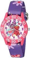 EWatchFactory Girl's 'Sesame Street' Quartz Plastic and Nylon Watch, Color:Purple (Model: W003193)