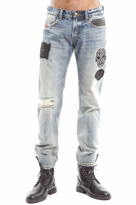 Cult of Individuality Cafe Racer Patches King Baby Straight Jeans