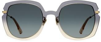 Christian Dior DiorAttitude1 56MM Square Sunglasses