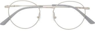 Calvin Klein round-frame metal glasses