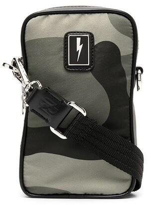 Neil Barrett Camouflage-Print Messenger Bag