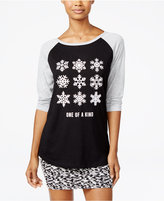 Freeze 24-7 Juniors' Snowflake Graphic Top