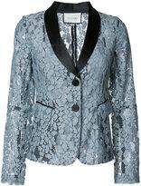 Alexis embroidered blazer - women - Spandex/Elastane/Polyimide - S