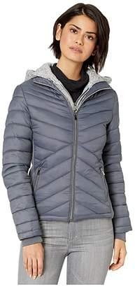 YMI Jeanswear Snobbish Puffer Jacket with Marled Sweatshirt Hood