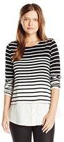 Calvin Klein Women's Varigated Stripe Two-Fer