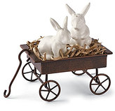 Mud Pie Easter Bunny Salt & Pepper Wagon Set