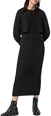 AllSaints Tarun Midi Dress