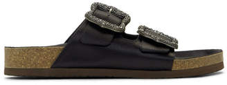 Marc Jacobs Black Redux Grunge Two-Strap Sandals