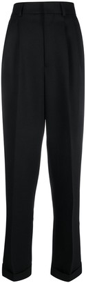 Ami Paris wide fit pleated trousers