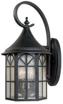 Savoy House 5-8252-25 Outdoor Sconce with Pale Cream Textured Shades, Slate F...