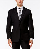 Calvin Klein Black Peak Lapel Slim-Fit Jacket