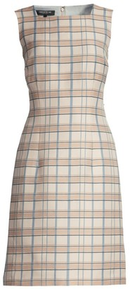 Lafayette 148 New York Filmore Plaid Jojo Sheath Dress