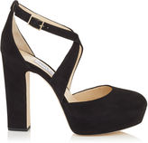 Jimmy Choo JOYCE 120 Light Mocha Suede Platform Pumps
