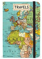 Cavallini & Co. Cavallini Notebook Vintage Map 256 Pages Featuring Classic Cream Lined Paper Stock, 4 by 6-Inch