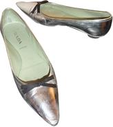 Prada Silver Patent leather Ballet flats