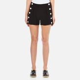 Moschino Women's Button Shorts Black
