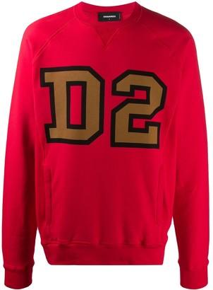 DSQUARED2 D2 print crew neck sweatshirt