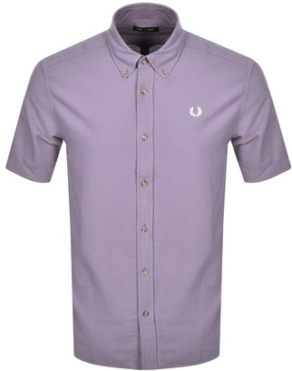 Fred Perry Overdyed Short Sleeve Shirt Lilac