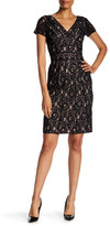 NUE by Shani Lace Piped Sheath Dress