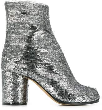 Maison Margiela Tabi sequin-embellished boots