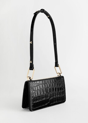 And other stories Duo Buckle Croc Shoulder Bag