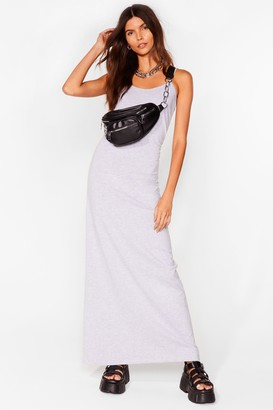 Nasty Gal Womens Keep Things Simple Relaxed Maxi Dress - Grey