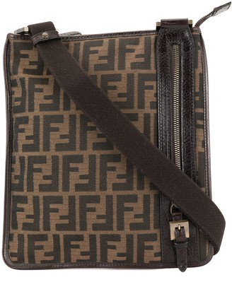 Fendi Pre Owned Zucca crossbody shoulder bag