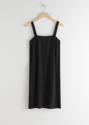 And other stories Square Neck Straight Cut Dress