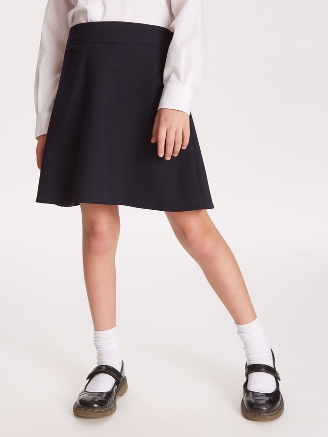 John Lewis & Partners Girls' Adjustable Waist A-Line School Skirt