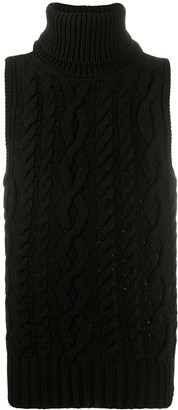 Telfar Cable Knit Sleeveless Jumper