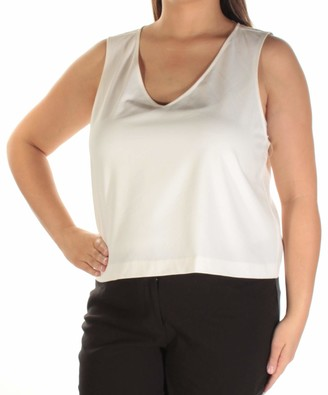 Kensie Women's Stetch Cepe Sleeveless Top