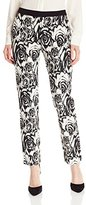 Adrianna Papell Women's JQD Kate Pant with Solid WB