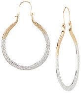 Natasha Accessories Hammered Hoop Earrings