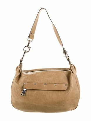 Marc Jacobs Leather Shoulder Bag Khaki