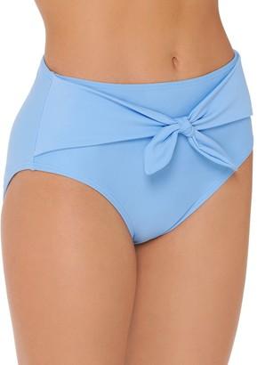 So Mix and Match Tie-Front High Waist Bikini Bottoms